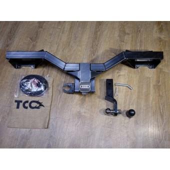 Фаркоп для Audi Q5 (провода, розетка, декоративная заглушка, чехол для крюка)