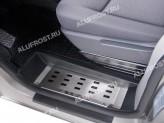Хромированные накладки для Volkswagen T5 на пороги 2003-