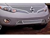 Комплект решеток для Nissan Murano, полир.нерж.сталь из 2-х частей