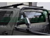Защитная дуга для Toyota HiLux в кузов пикапа, цвет черный (возможна установка с трехсекционной крышкой), изображение 2