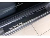 Накладки для BMW X5 на внутренние пороги с надписью