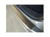 """Хромированная накладка для Mitsubishi Outlander на задний бампер с загибом матовая серия """"ORIGINAL"""""""