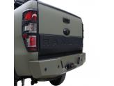 Накладка на откидной борт для Ford Ranger T6 с логотипом (цвет черный, пластик ABS), изображение 2