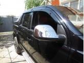 Хромированные накладки на зеркала Volkswagen Amarok 2009-