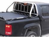Защитная дуга 63 мм для Volkswagen Amarok в кузов пикапа в комплекте с защитой заднего стекла