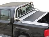 Защитная дуга 63 мм для Volkswagen Amarok в кузов пикапа а комплекте с решеткой