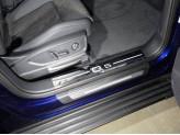Хромированные накладки для Audi Q5 на пластиковые пороги 2 шт