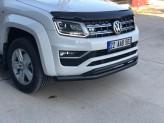 """Защита переднего бампера """"Arow Plus"""" для Mercedes-Benz X-Class, цвет черный"""