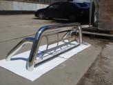 Защитная дуга 76 мм в кузов пикапа с защитой заднего стекла (полированная нержавеющая сталь), изображение 4