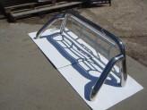 Защитная дуга 76 мм в кузов пикапа с защитой заднего стекла (полированная нержавеющая сталь), изображение 3
