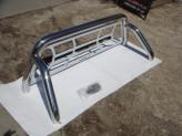 Защитная дуга 76 мм в кузов пикапа с защитой заднего стекла (полированная нержавеющая сталь), изображение 2