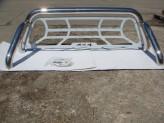 Защитная дуга 76 мм в кузов пикапа с защитой заднего стекла (полированная нержавеющая сталь), изображение 6