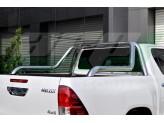 """Защитная дуга """"Canyon Chrome"""" для Toyota HiLux в кузов пикапа 76 мм полированная, нержавеющая сталь"""