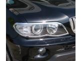 Хромированные накладки на фары BMW X5