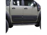 Комплект боковых накладок для Ford Ranger T6 из 4 частей (цвет черный, пластик ABS), изображение 2