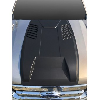 Накладка на капота для Ford Ranger T6  (пластик ABS)