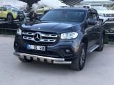 """Защита бампера """"GloCity Chrome"""" для Mercedes-Benz X-Class  (70 мм, полир. нерж. сталь), изображение 2"""