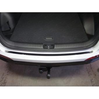 Хромированная накладка для Hyundai Creta на задний бампер (лист зеркальный)