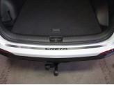 Хромированная накладка для Hyundai Creta на задний бампер