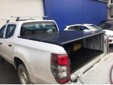 Крышка пикапа для Fiat Fullback трехсекционная, алюминиевая, цвет черный
