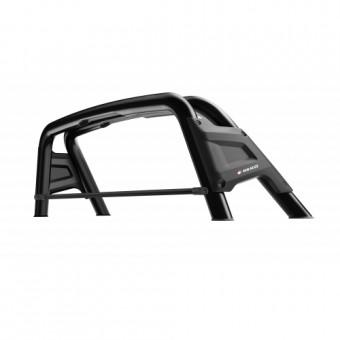 Защитная дуга для Volkswagen Amarok в кузов пикапа, цвет черный (возможна установка с трехсекционной крышкой, расстояние между опорами 47 см)