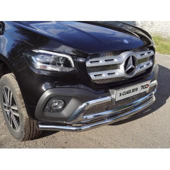 Защита передняя, нижняя 60,3 мм для Mercedes-Benz X-Class  (полир. нерж. сталь)