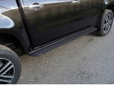 """Пороги алюминиевые для Mercedes-Benz X-Class, модель """"Slim Line Black"""" 1920 мм"""