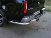 Защита задняя для Mercedes-Benz X-Class 76 мм полир. нерж. сталь