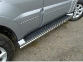 Защита порогов 42 мм для Mitsubishi Pajero