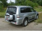 Защита задняя для Mitsubishi Pajero центральная 60 мм