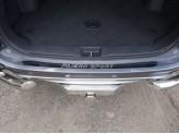 Хромированная накладка для Mitsubishi Pajero-sport на задний бампер