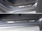 Хромированная накладка для Mitsubishi Pajero-sport на пороги вставка