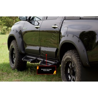 Комплект боковых накладок для Toyota HiLux (Revo)