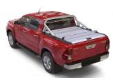 """Крышка Mountain Top для Toyota HiLux """"TOP ROLL"""", под оригинальную дугу, цвет серебристый"""