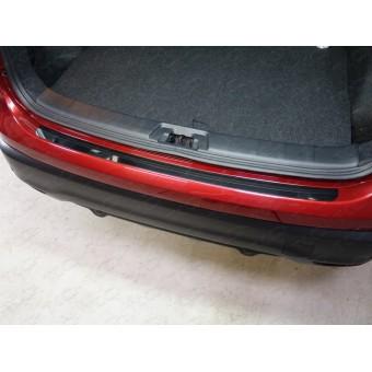 Хромированная накладка для Nissan QASHQAI на задний бампер (лист зеркальный)