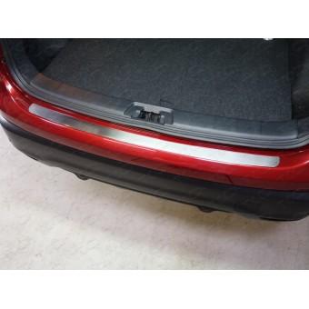 Хромированная накладка для Nissan QASHQAI на задний бампер (лист шлифованный)