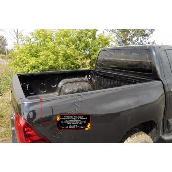 Накладки на борта Toyota HiLux (на боковые борта и задний откидной борт)