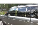 Хромированные накладки на дверные стойки Range Rover Sport