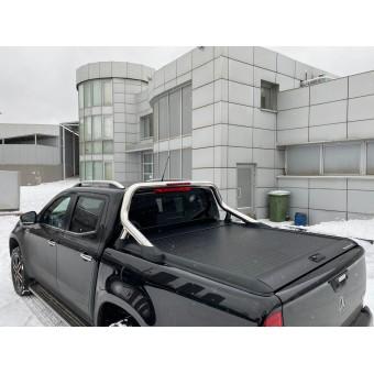 """Крышка Mountain Top для Mercedes-Benz X-Class """"TOP ROLL"""" под оригинальную дугу (цвет черный, рейлинги поставляются отдельно)"""