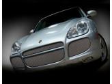 Решетка радиатора для Porsche Cayenne TURBO полир. нерж. сталь 2003-2006 г.