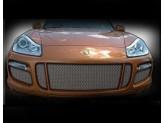 Решетка радиатора для Porsche Cayenne TURBO полир. нерж. сталь 2007-2010 г.