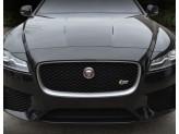 Решетка радиатора для Jaguar XF черная полир. нерж. сталь 2016-