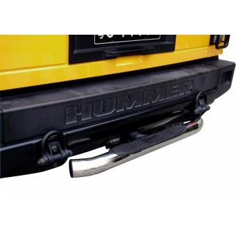 Защита-ступень заднего бампера под штатный квадрат 5 x 5 см (нерж. сталь + пластик ABS)