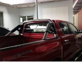 Защитная дуга в кузов пикапа,полир. нерж. сталь + пластик ABS, изображение 3