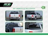 Защитная дуга для Volkswagen Amarok с защитой заднего стекла в кузов пикапа, цвет черный