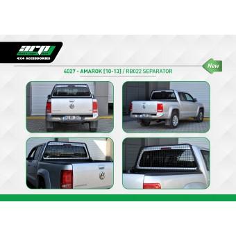 Защитная дуга для Volkswagen Amarok с защитой заднего стекла в кузов пикапа, цвет черный (черная сталь 40 х 40 мм, толщина стенки 2 мм.)