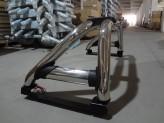 Защитная дуга в кузов пикапа 76 мм со стоп сигналом полир. нерж. сталь