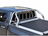 Защитная дуга 63 мм для Toyota HiLux кузов пикапа в комплекте с защитой заднего стекла