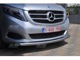 """Передняя защита """"TETRI"""" для Mercedes-Benz V-Class, 60 мм. полир. нерж. сталь"""
