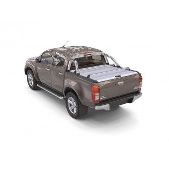 """Крышка Mountain Top на Isuzu D-MAX """"TOP ROLL"""" с защитной дугой, цвет серебристый (2012 г.-)"""
